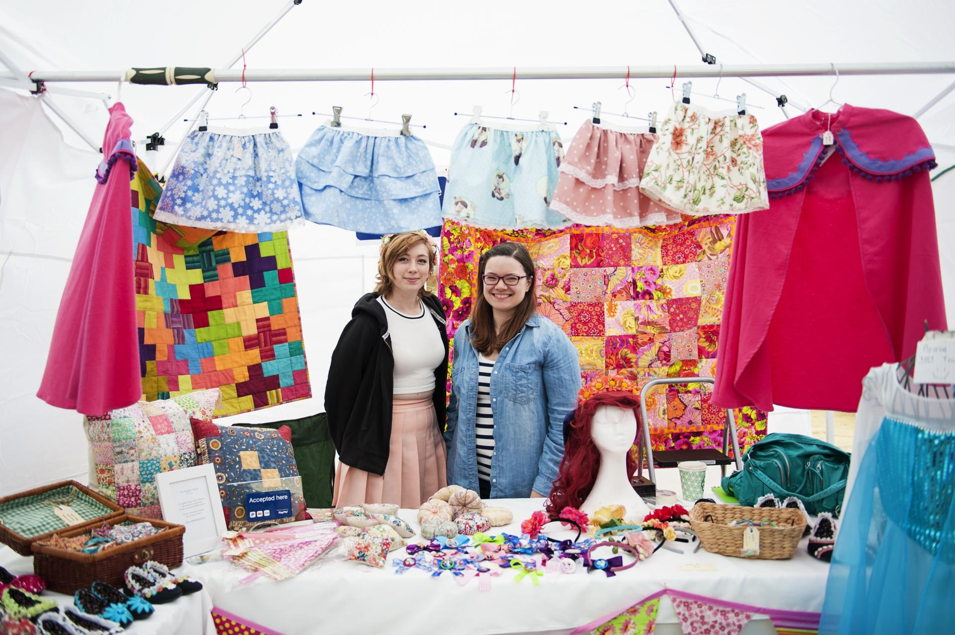 Homemade clothing stall