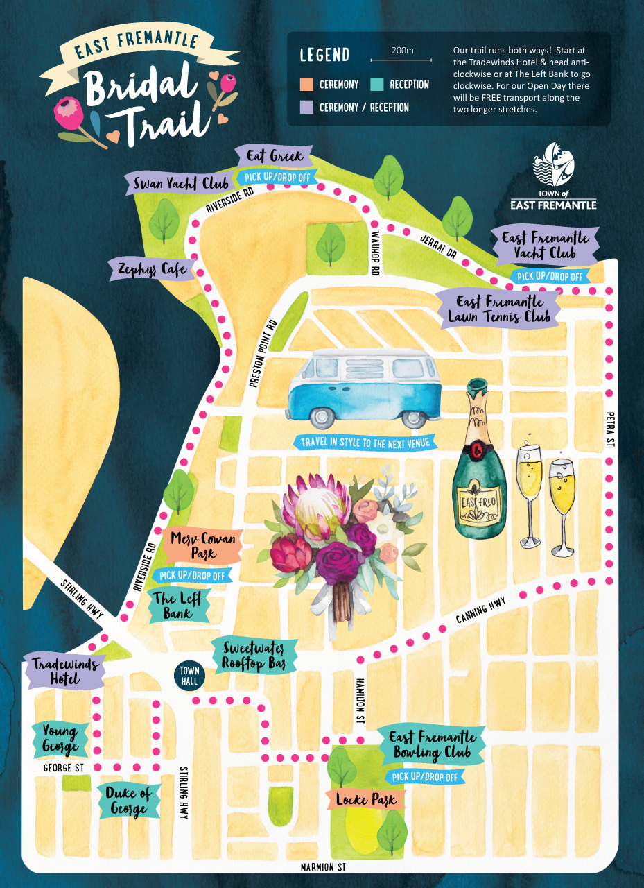East Fremantle Bridal Trail Map