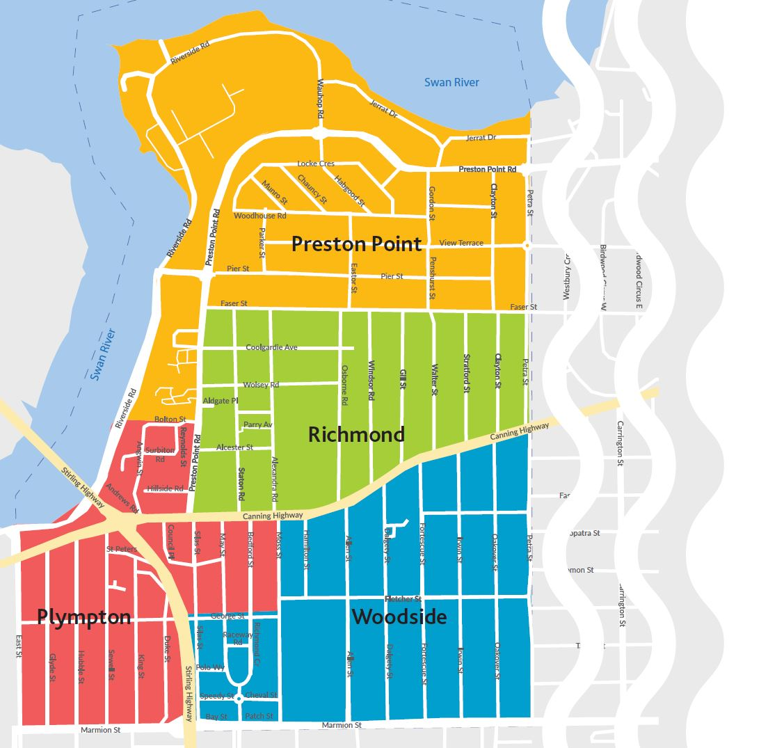 Town of East Fremantle Ward Map