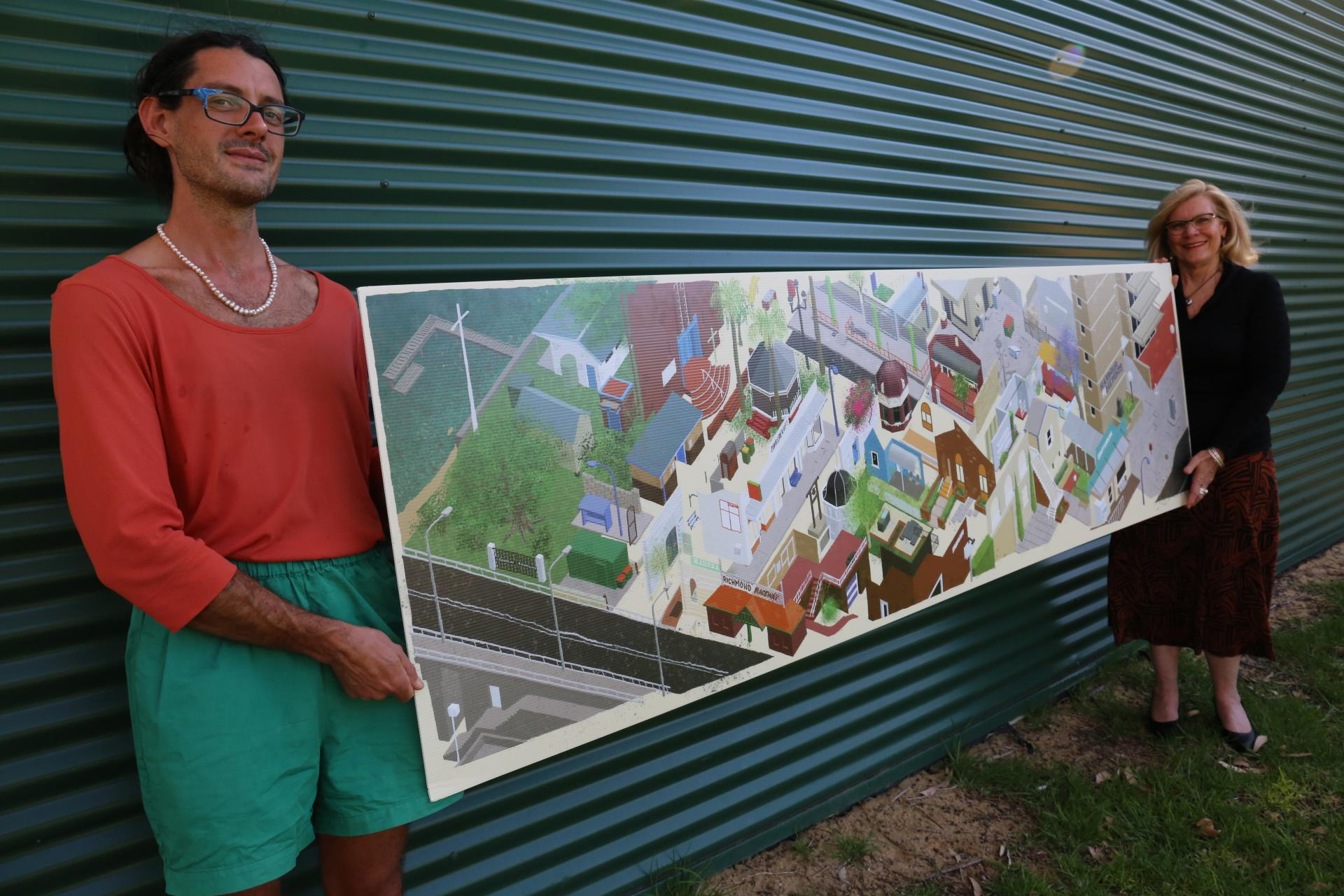 "New Glasson Park Mural Design Reveals ""Streets of Your Town"" as new 2021"