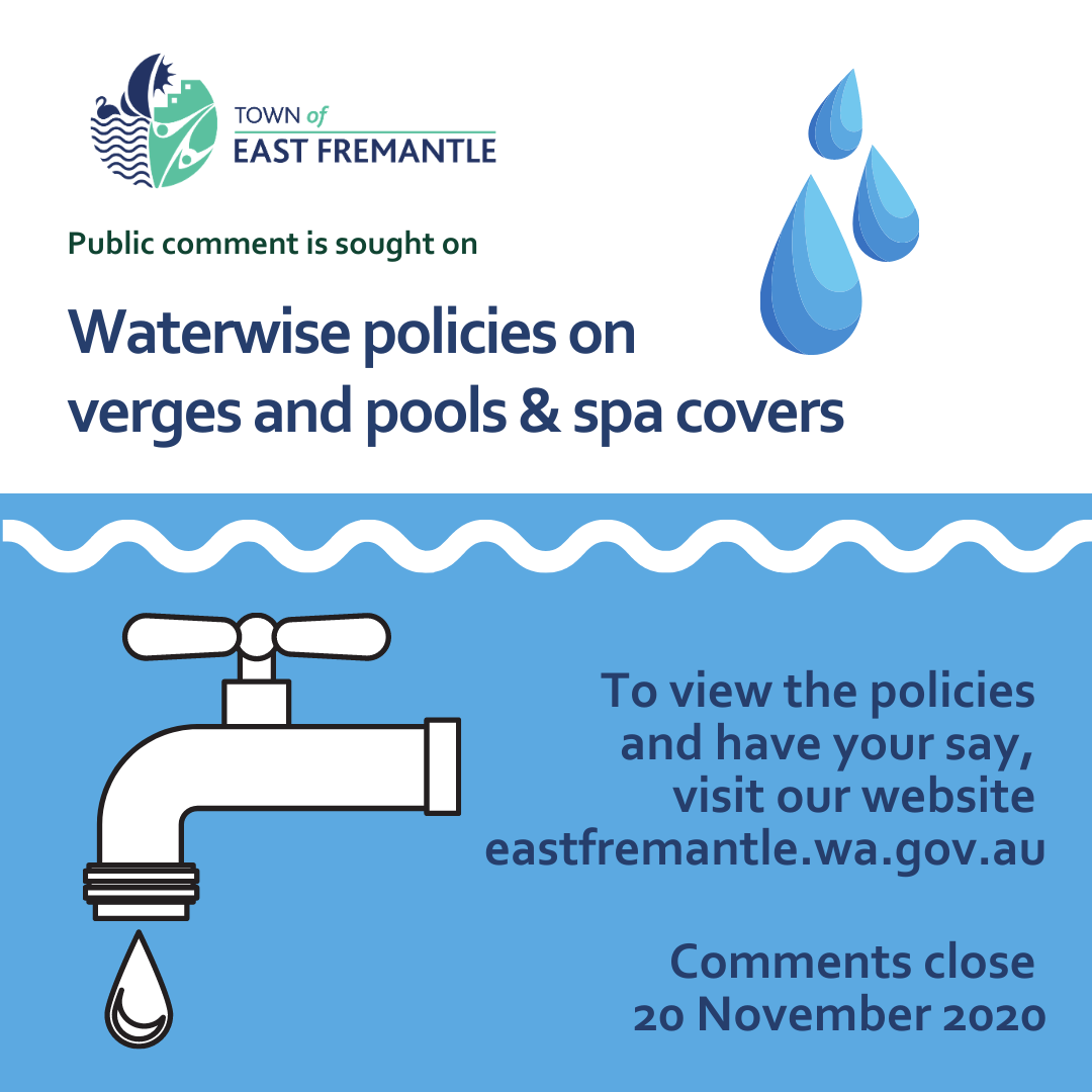 New Policies on Waterwise Pools/spas and Verges