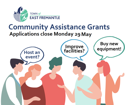 Community Assistance Grants - get your applications in!