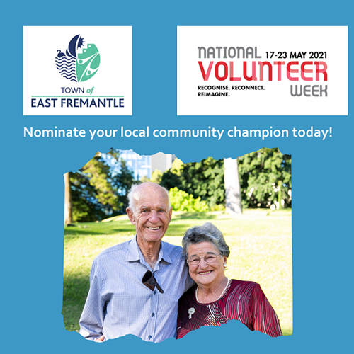 National Volunteers Week - nominate a community champion this month