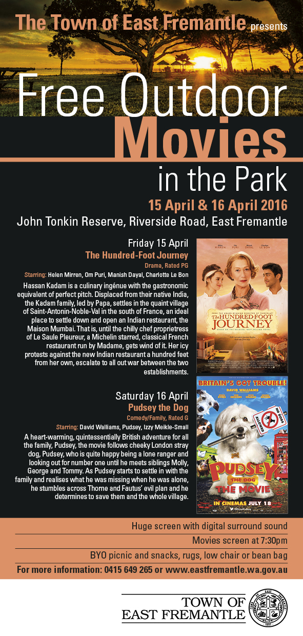East Freo Free Movies in the Park April 2016